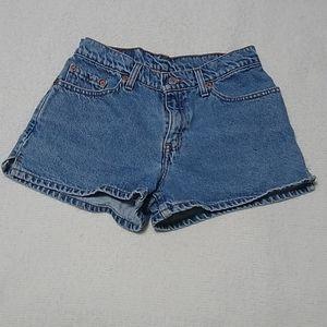 Juniors Size 7 Levi Jean Shorts
